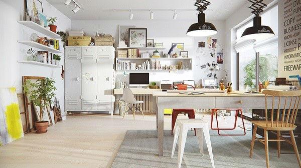 Sơn tường màu trắng là lựa chọn phổ biến trong thiết kế nội thất Scandinavia