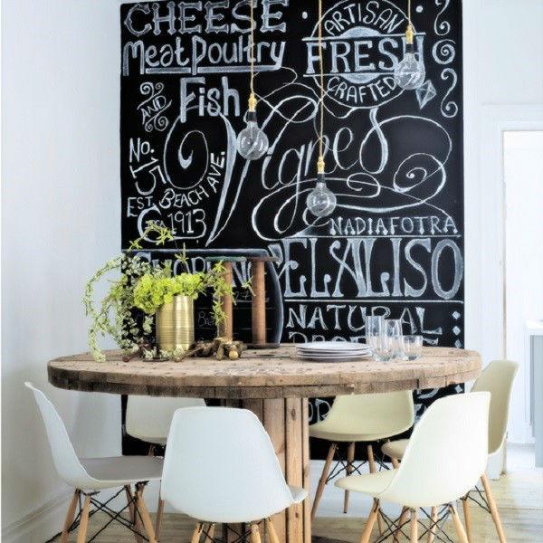 Bức tường bảng đen nho nhỏ theo phong cách Scandinavia
