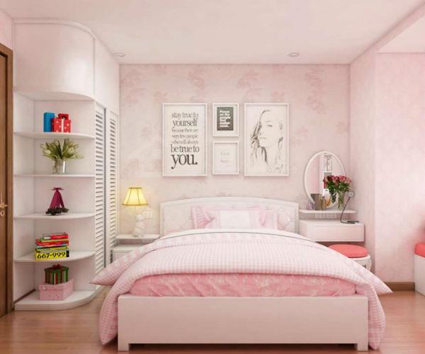 Trang trí phòng ngủ phong cách Hàn Quốc với màu hồng dễ thương