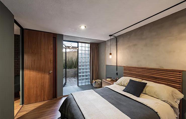 Thiết kế phòng ngủ bằng Bê-tông