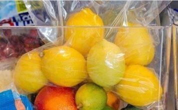 Dùng túi bọc thực phẩm để bảo quản chanh lâu hơn