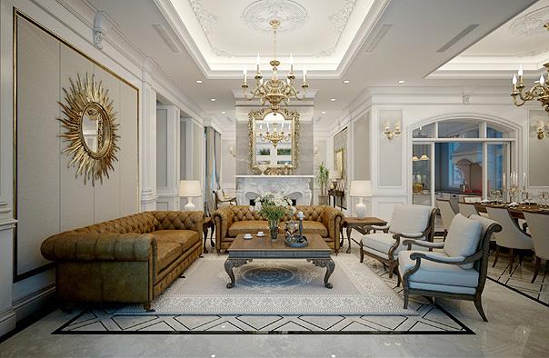 Thiết kế nội thất tân cổ điển là phong cách được khá nhiều gia chủ lựa chọn trong thời gian gần đây.