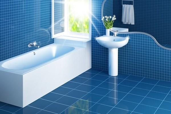 Sử dụng nước tẩy chuyên dụng cho nhà về sinh để lau chùi