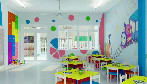 Phòng học của các bé phải đầy đủ ánh sáng
